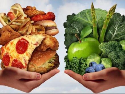 Billedresultat for sund og usund mad