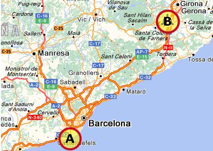 Genabner Rute Til Spanien Spanien I Dag